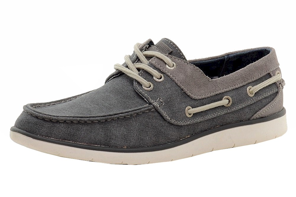 Image of GBX Men's East Canvas/Leather Loafers Boat Shoes - Blue - 10.5 D(M) US