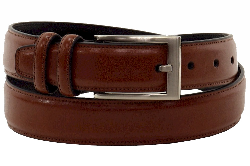 Image of Geoffrey Beene Men's Blazer Collection Belt - Cognac - 44