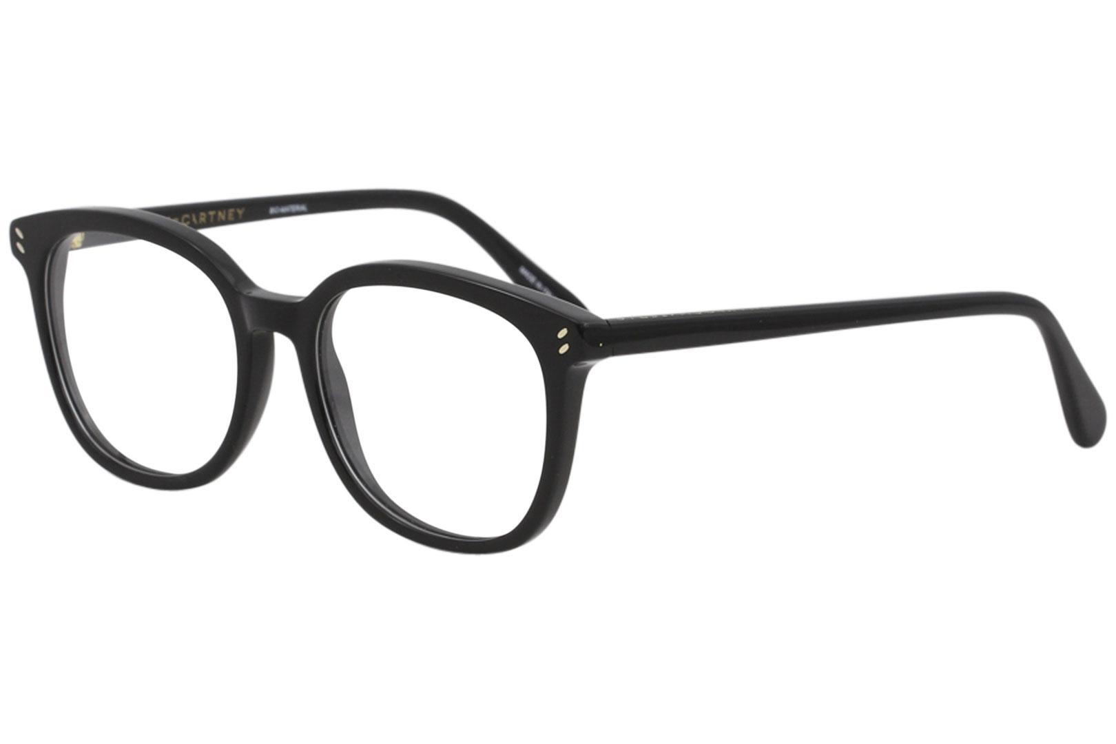 Image of Stella McCartney Women's Eyeglasses SC0080OI SC/0080/OI Full Rim Optical Frame - Black - Lens 52 Bridge 18 Temple 140mm