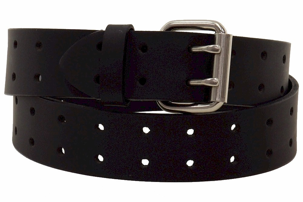 Image of Dickies Men's Genuine Leather Casual Bridle Belt - Black - 32