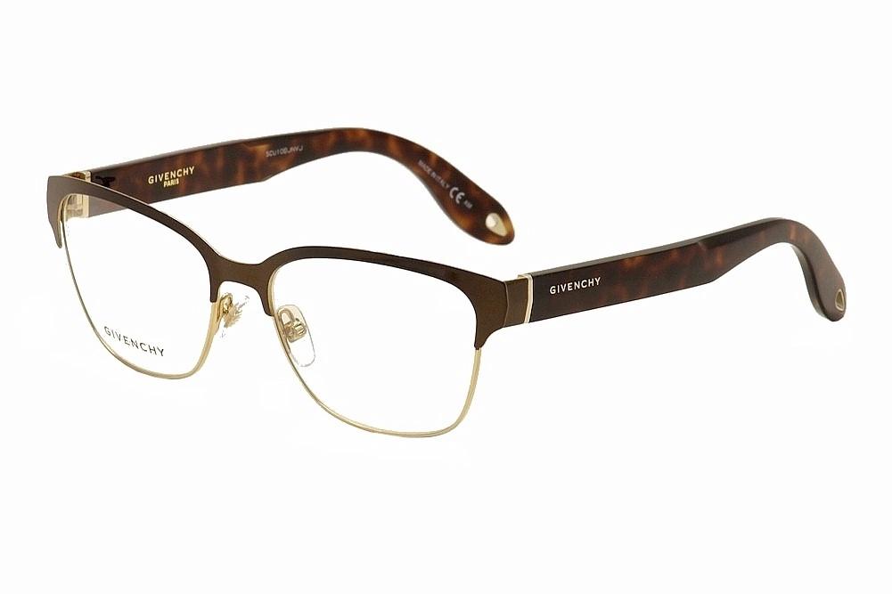 Image of Givenchy Women's Eyeglasses GV 0004 GV/0004 Full Rim Optical Frame - Brown - Lens 54 Bridge 16 Temple 145mm