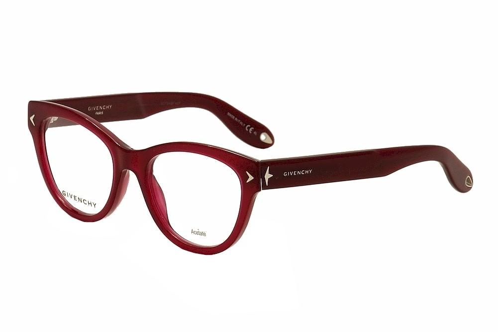 Image of Givenchy Women's Eyeglasses GV 0012 GV/0012 Cat Eye Optical Frame - Red - Lens 50 Bridge 18 Temple 148mm