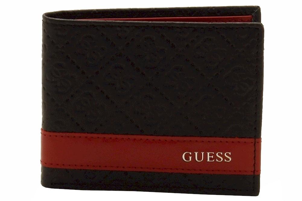 Guess Men s ID Billfold Genuine Leather Bi Fold Wallet