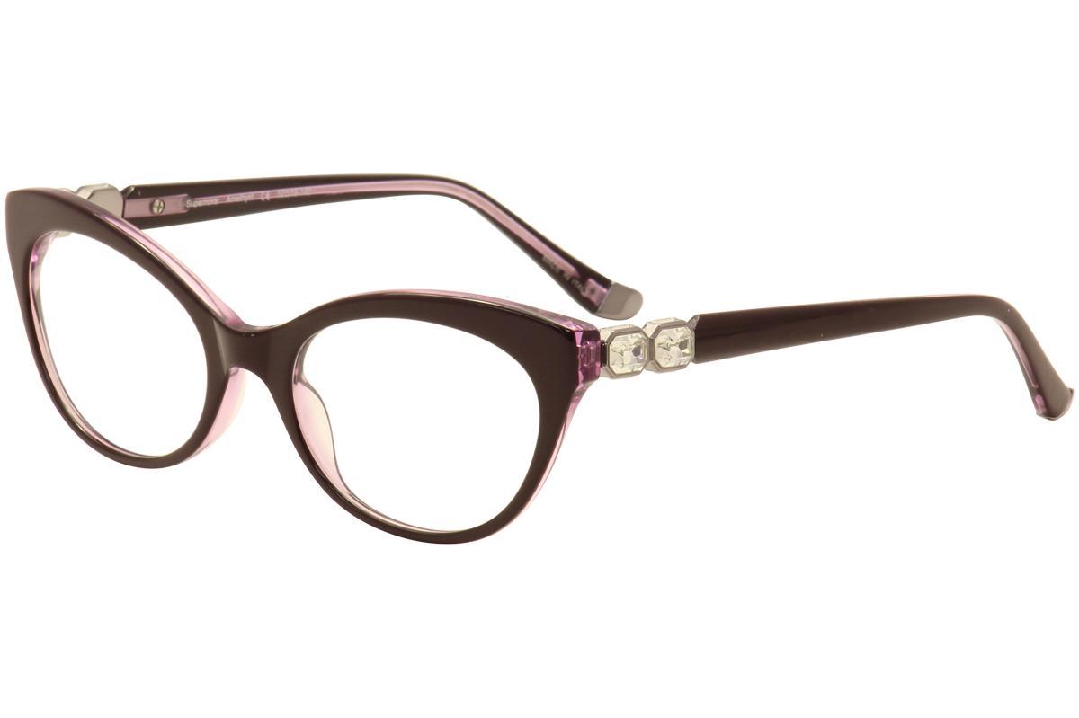 Image of Judith Leiber Couture Women's Supernova Eyeglasses Full Rim Optical Frame - Purple - Lens 52 Bridge 19 Temple 140mm