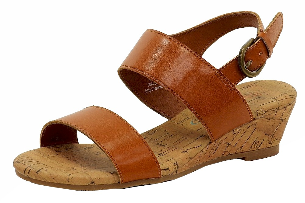 Image of BareTraps Girl's Cricket Fashion Mini Wedge Sandals Shoes - Brown - 13.5 M US Little Kid