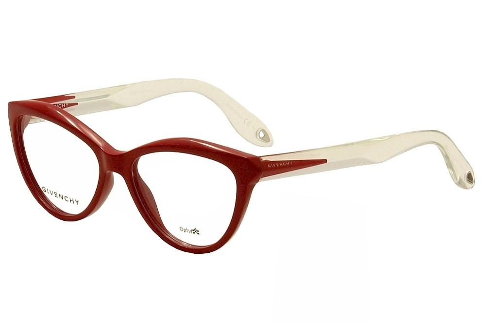 Image of Givenchy Women's Eyeglasses GV 0009 GV/0009 Full Rim Optical Frame - Red - Lens 52 Bridge 16 Temple 145mm