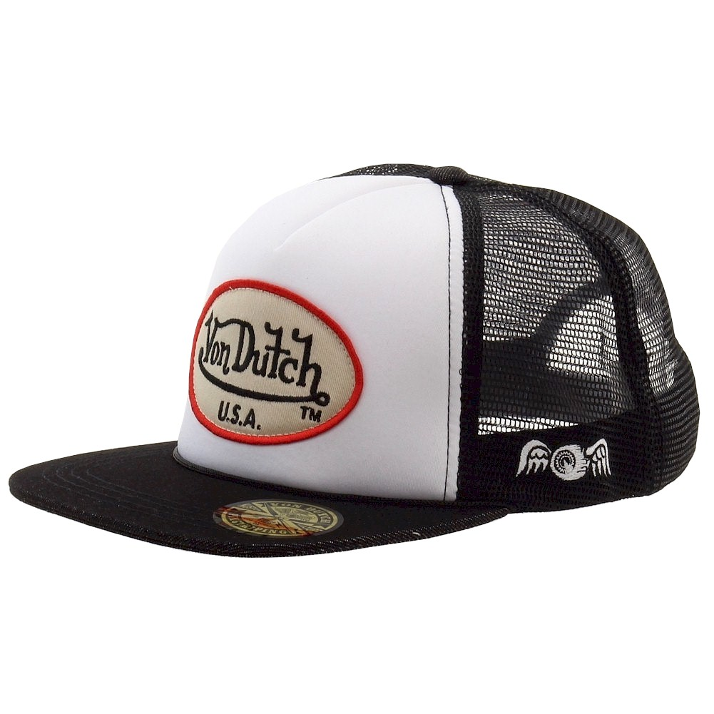 083ca680ae8 Von Dutch Men s OG Patch Tan Trucker Cap Hat (One Size Fits Most)