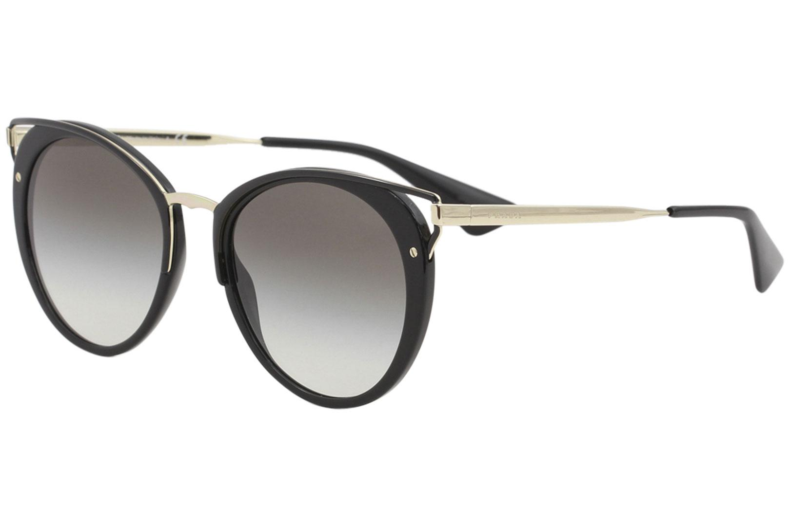 Prada Women's SPR66T SPR/66T Fashion Round Sunglasses
