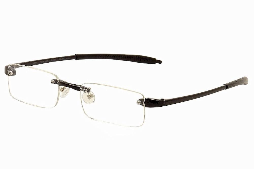 Image of VisuaLites Eyeglasses Vis1 Rimless Reading Glasses - Black - +2.25