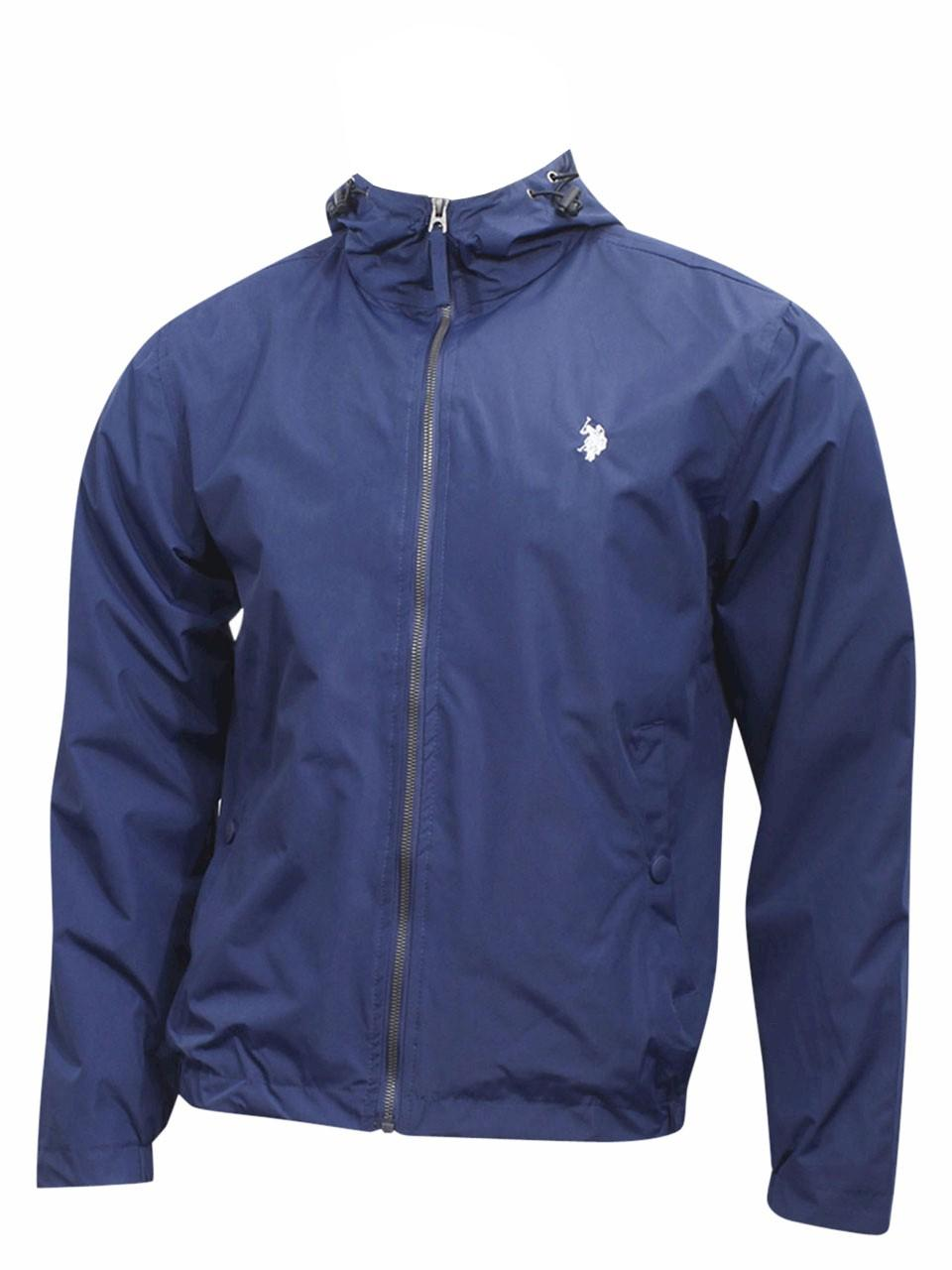 U.S. Polo Association Men's Hooded Windbreaker Jacket