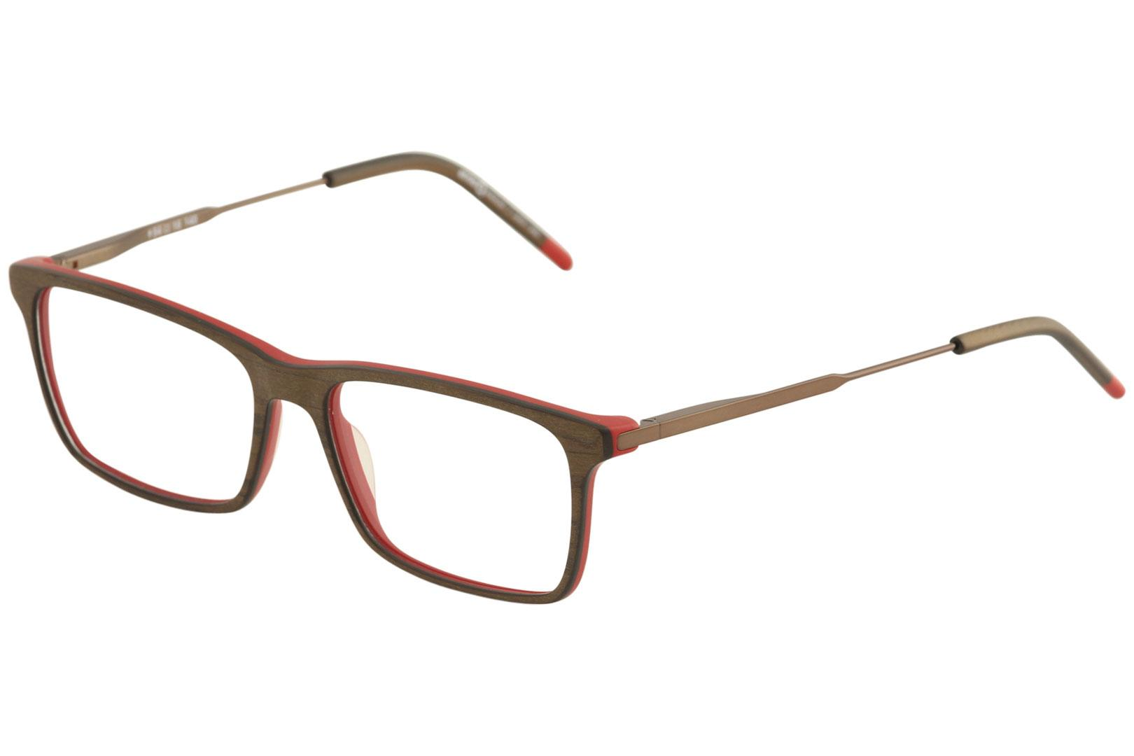 Image of Etnia Barcelona Men's Eyeglasses Jasper Full Rim Optical Frame - Brown/Red   BRRD - Lens 56 Bridge 16 Temple 140mm