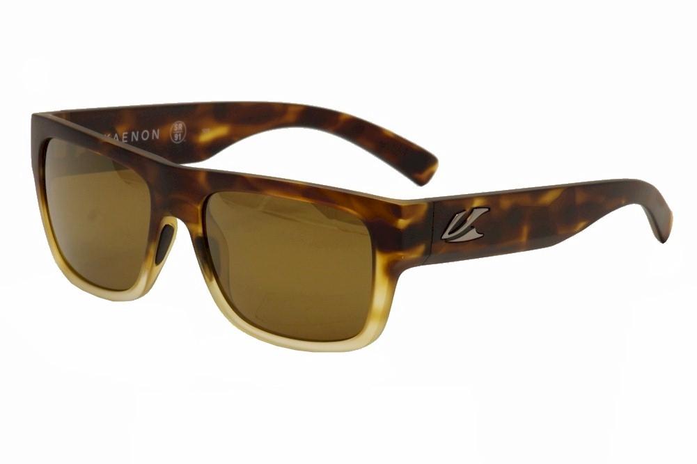 Image of Kaenon Polarized Montecito Fashion Sunglasses - Matte Tort Fade/B12M Silver Logo   05 - Lens 55 Bridge 19 Temple 138mm