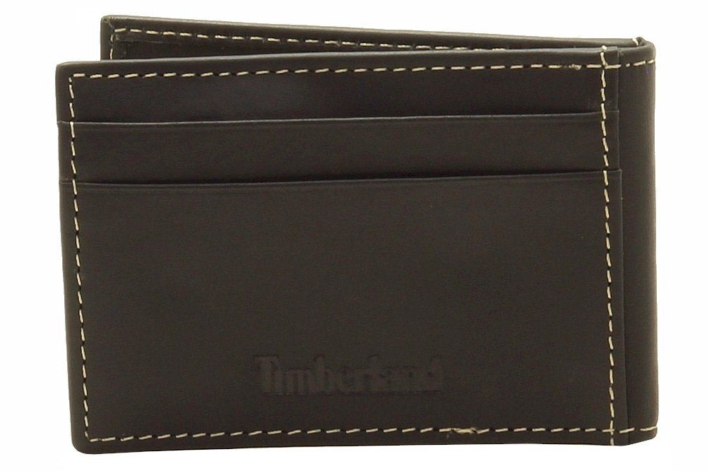 Timberland Men s New Hunter Flip Clip Genuine Leather Bi Fold Wallet New Hunter Flip Clip; D77223