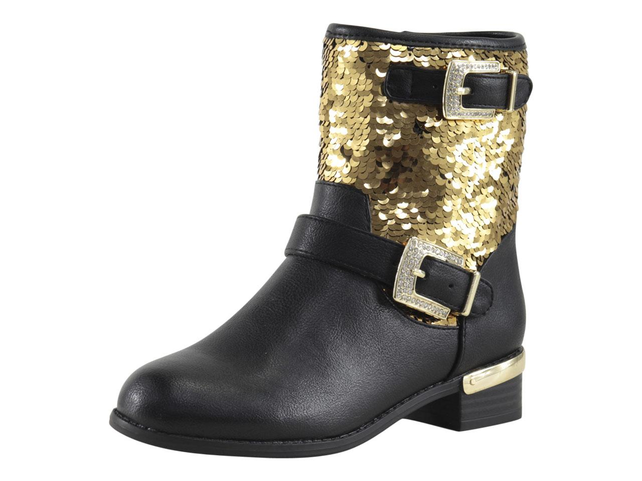5e8ff2143 Vince Camuto Little/Big Girl's Winika Sequin Moto Boots Shoes
