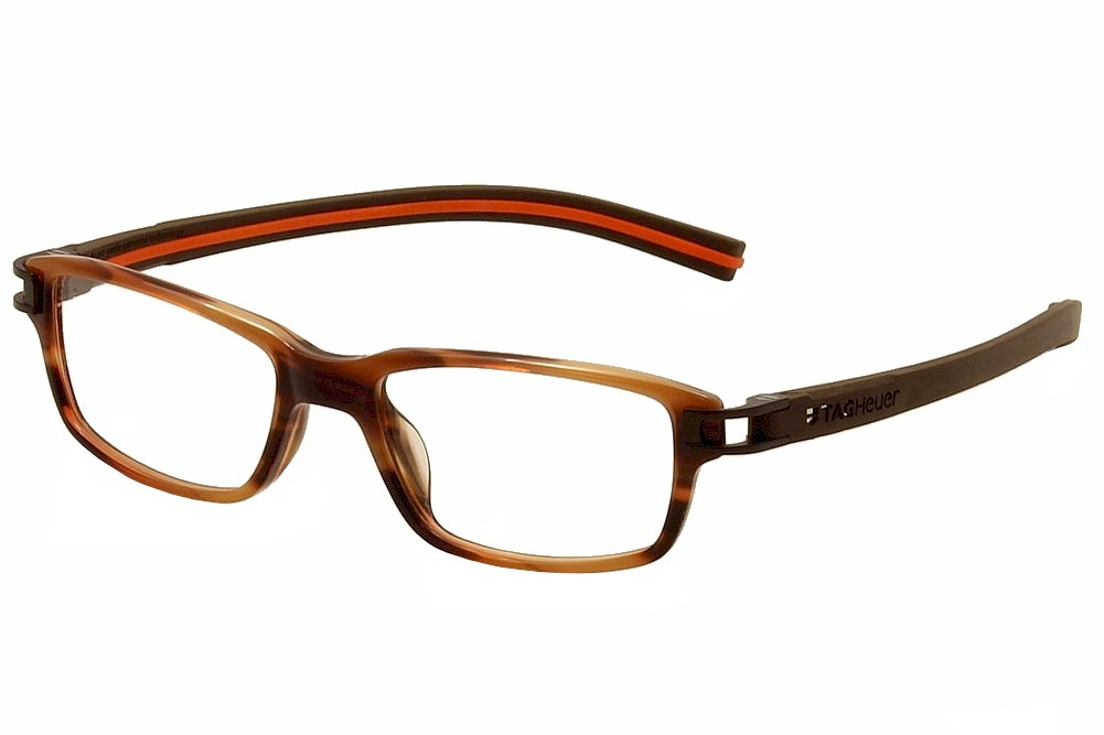 Image of Tag Heuer Men's Eyeglasses Track S TH7602 TH/7602 Full Rim Optical Frame - Brown - Lens 52 Bridge 17 Temple 145mm