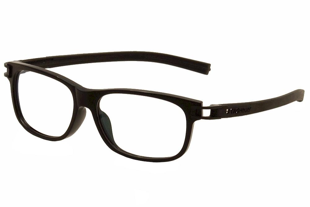Image of Tag Heuer Men's Eyeglasses Track S TH7606 TH/7606 Optical Frame - Black   007 - Lens 54 Bridge 14 Temple 145mm