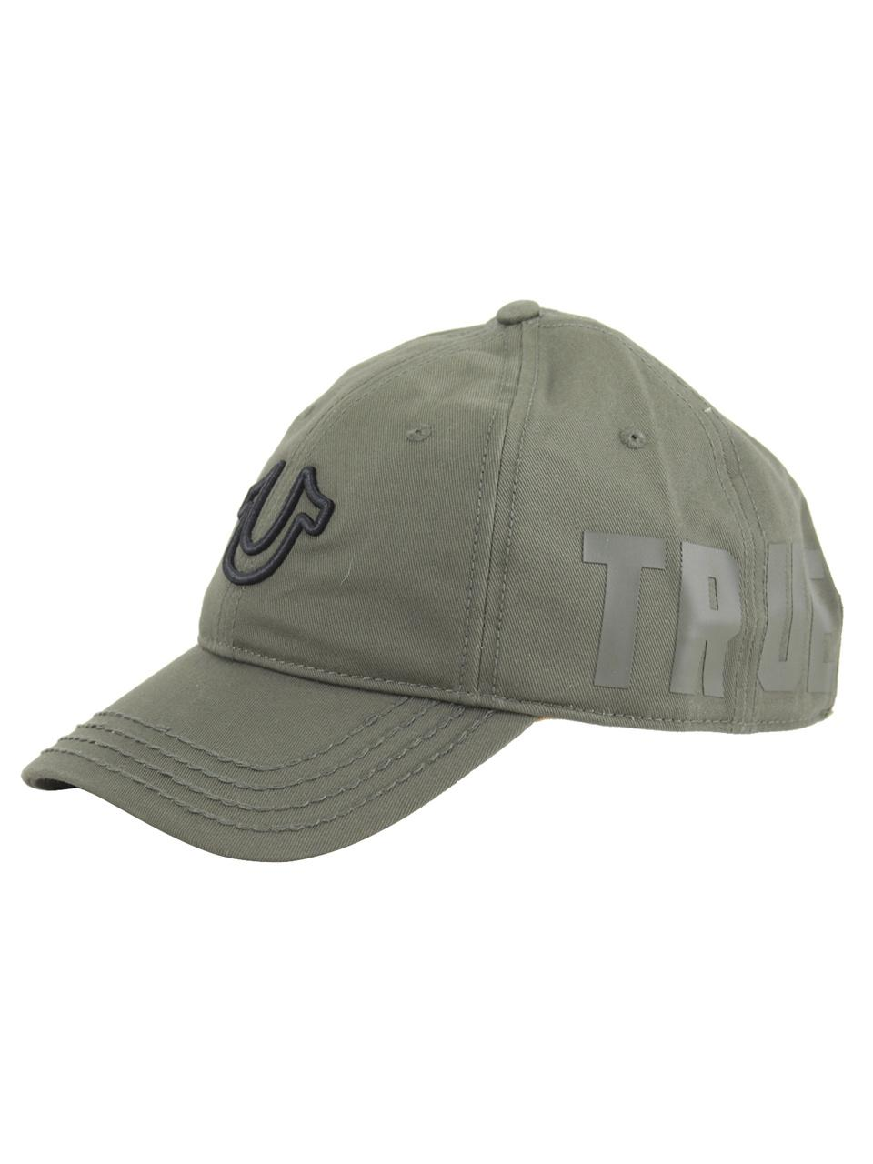 057b7af45bb2ea True Religion Men's 3D Horseshoe Cotton Strapback Baseball Cap Hat