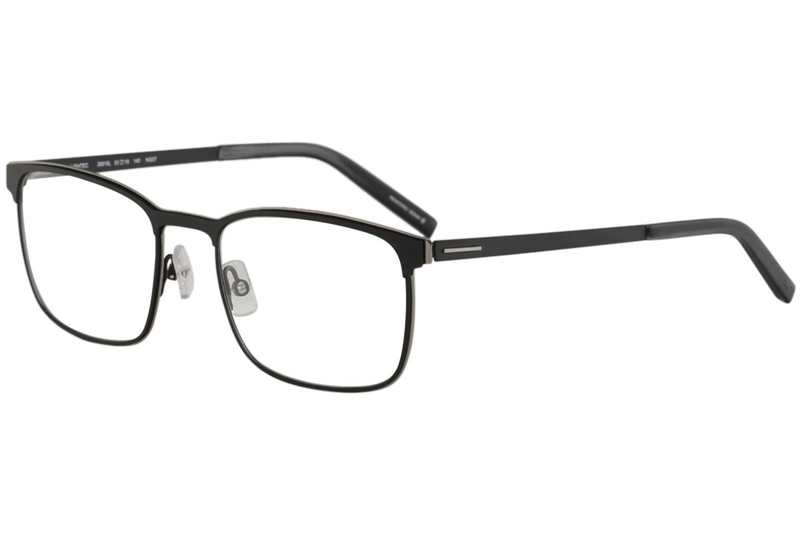 Image of Morel Men's Eyeglasses Lightec 30015L 30015/L Full Rim Optical Frame - Black - Lens 53 Bridge 19 Temple 140mm