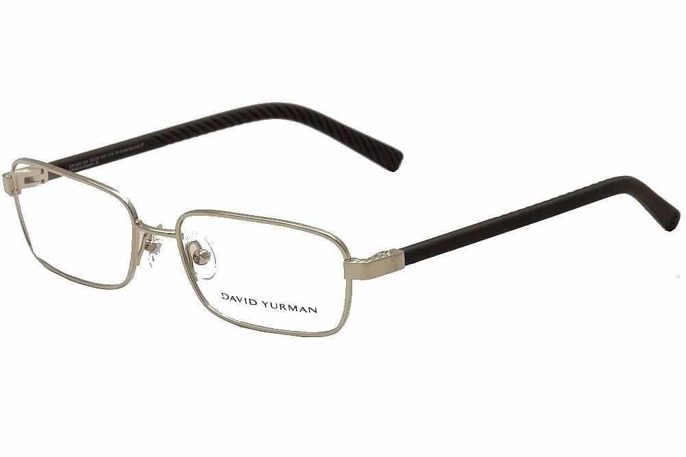 Image of David Yurman Women's Eyeglasses DY615 DY/615 Full Rim Optical Frame - Silver - Lens 55 Bridge 17 Temple 135 mm
