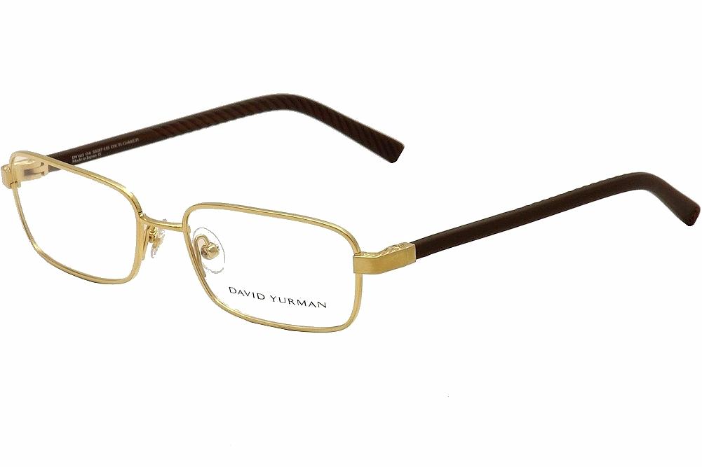 Image of David Yurman Women's Eyeglasses DY615 DY/615 Full Rim Optical Frame - Gold - Lens 55 Bridge 17 Temple 135 mm