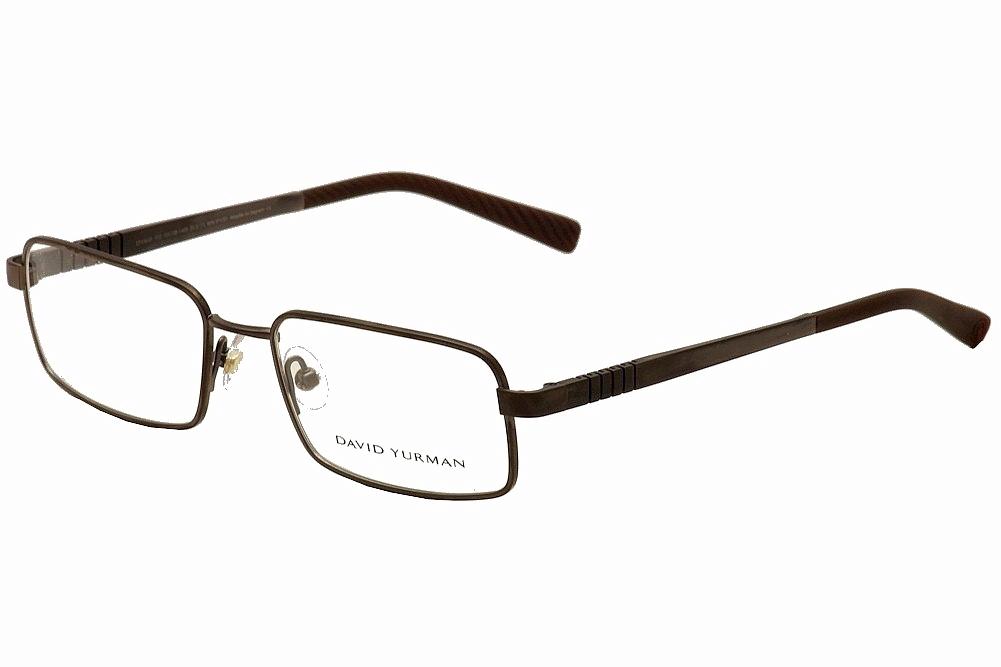 Image of David Yurman Men's Eyeglasses DY619 DY/619 Full Rim Optical Frame - Brown - Lens 55 Bridge 18 Temple 140mm