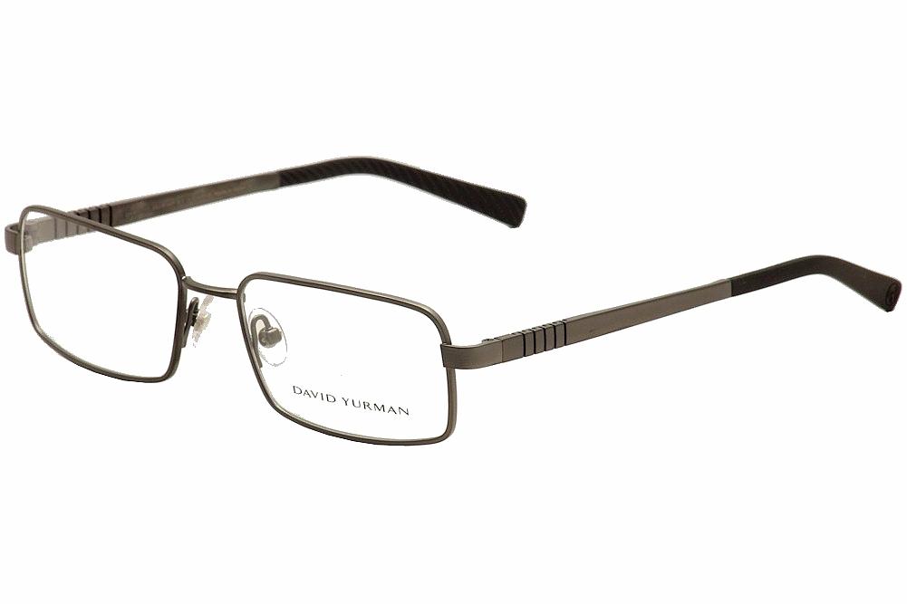 Image of David Yurman Men's Eyeglasses DY619 DY/619 Full Rim Optical Frame - Grey - Lens 55 Bridge 18 Temple 140mm