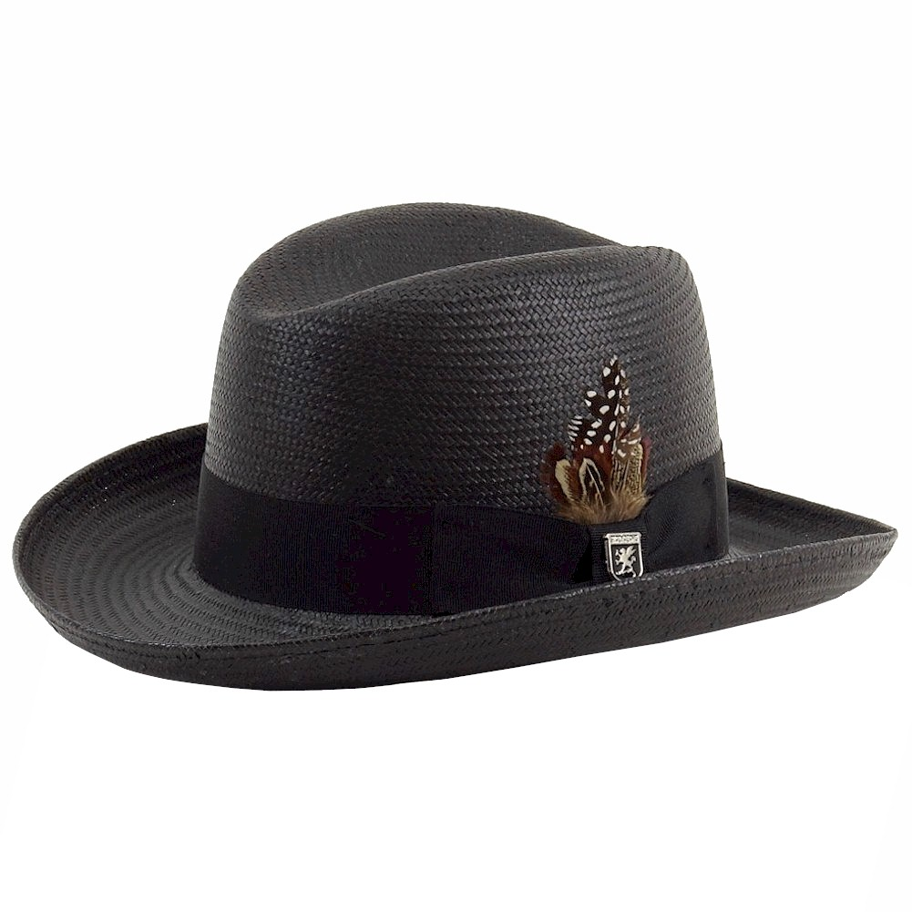 ee619996a00 Stacy Adams Men s Homburg Toyo Straw Fedora Hat