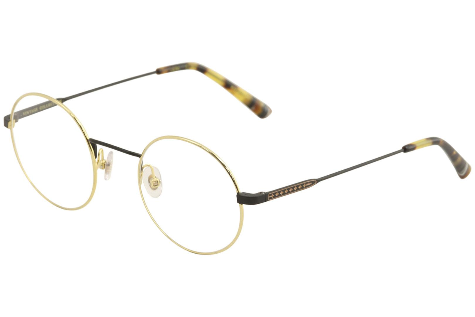 Image of Etnia Barcelona Men's Eyeglasses Vintage Collection Lapa Full Rim Optical Frame - Gold - Lens 47 Bridge 23 Temple 140mm