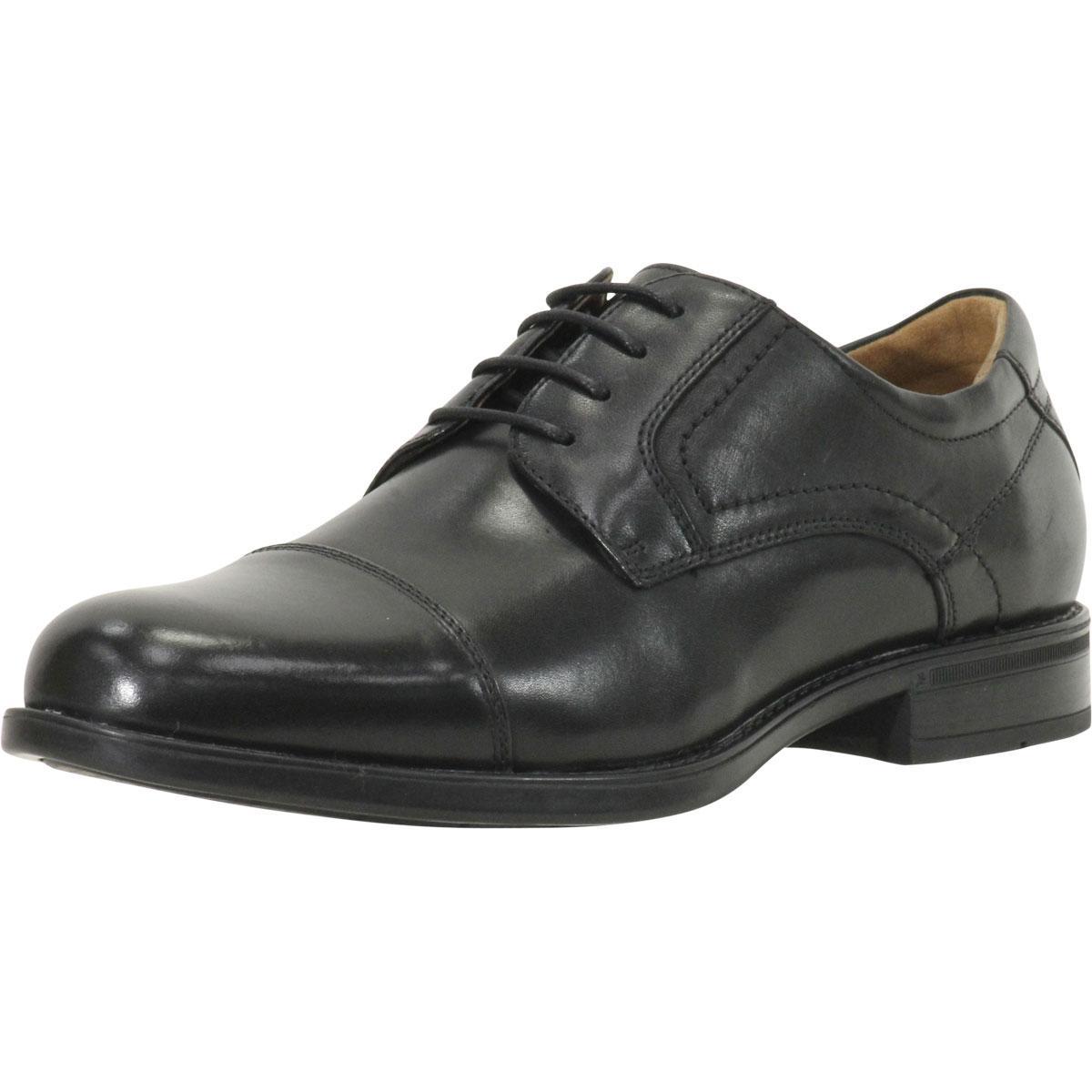 Image of Florsheim Comfortech Men's Midtown Cap Toe Oxfords Shoes - Black - 10.5 D(M) US
