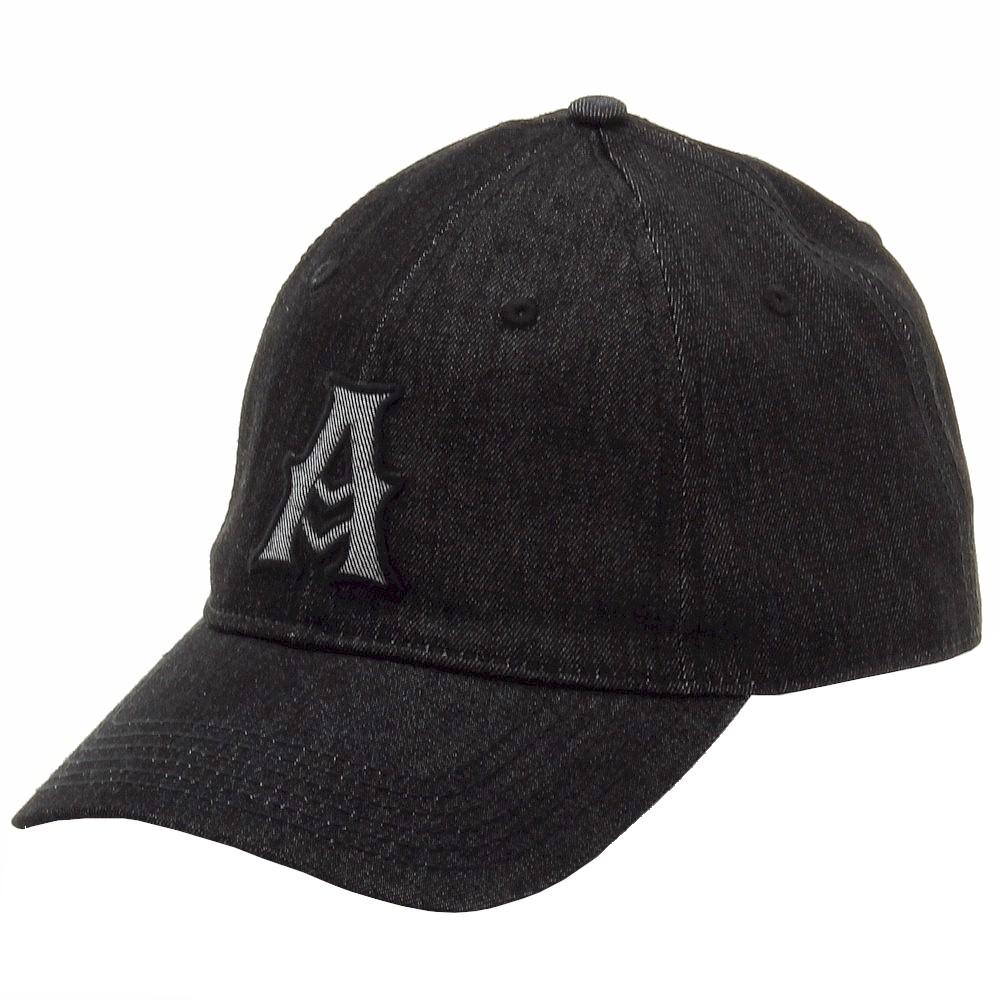 Image of Kurtz Men's Adair Denim Cotton Baseball Cap Hat (One Size Fits Most) - Black - One Size Fits Most
