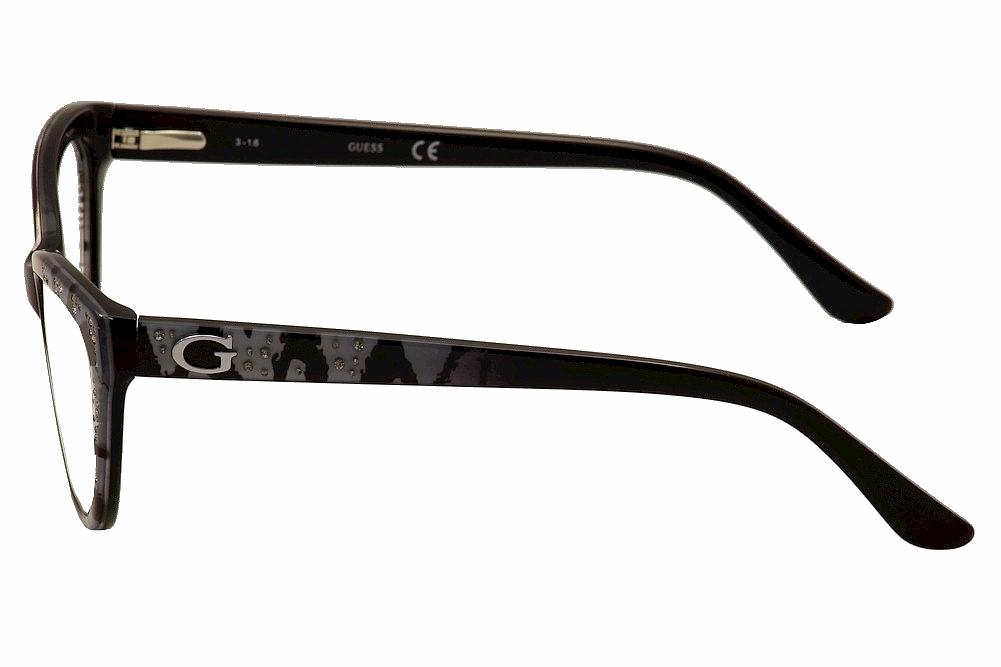 218161135f Guess Women s Eyeglasses GU2554 GU 2554 Cat Eye Optical Frame by Guess