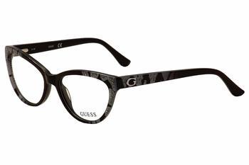 c3e32c85709 Guess Women s Eyeglasses GU2554 GU 2554 Cat Eye Optical Frame by Guess