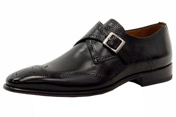 Mezlan Men's Vitoria Leather Monk Strap Oxfords Shoes
