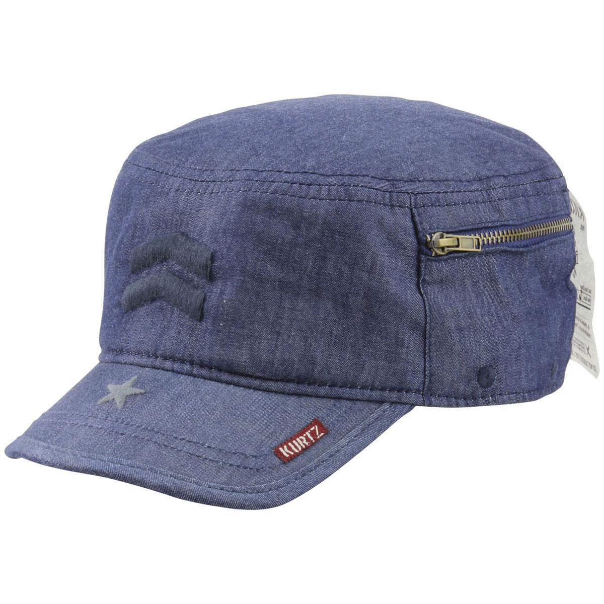 86adc862041 Kurtz Men s Denim Fritz Legion Military Cap Hat