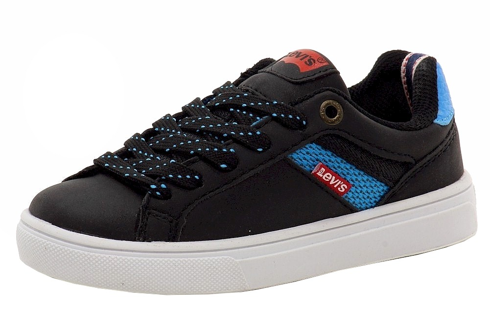 Image of Levi's Boy's Henry Energy Fashion Sneakers Shoes - Black - 1.5 M US Little Kid