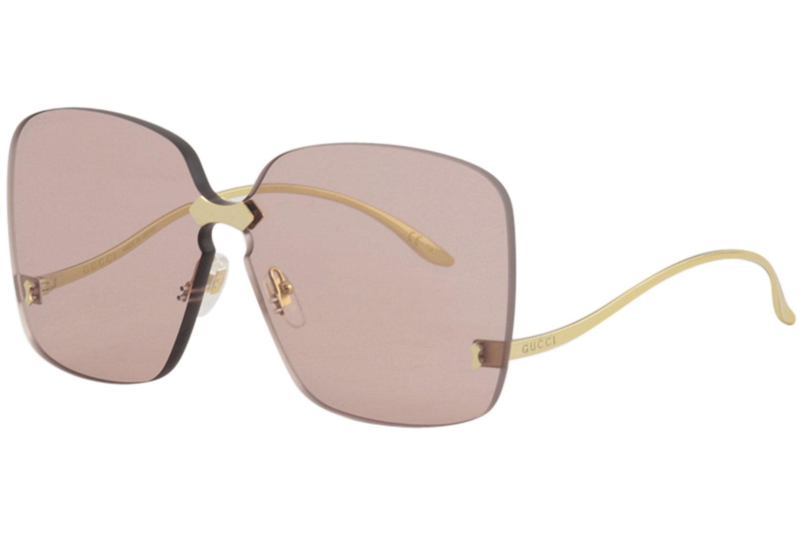 95470035656 Gucci Women s GG0352S GG 0352 S 003 Gold Fashion Square Sunglasses ...