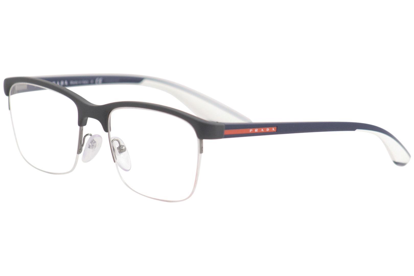 140bd38c59e Prada Linea Rossa Men s Eyeglasses VPS02L VPS 02 L Half Rim Optical ...