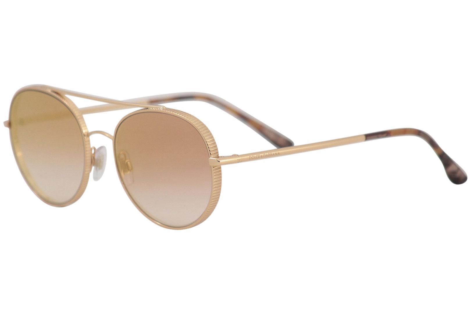 27d621f41 Dolce & Gabbana D&G DG2199 DG/2199 1298/6F Pink Gold Pilot ...