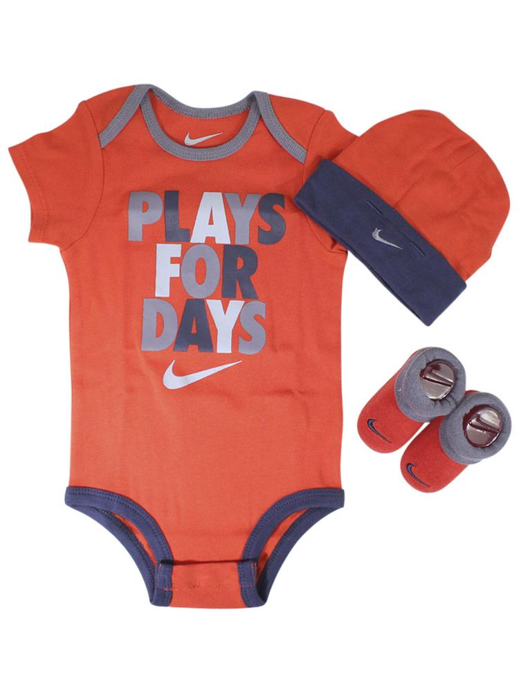 Nike Infant Boy's Plays For Days 3-Piece Set (Hat, OneZ, & Booties)