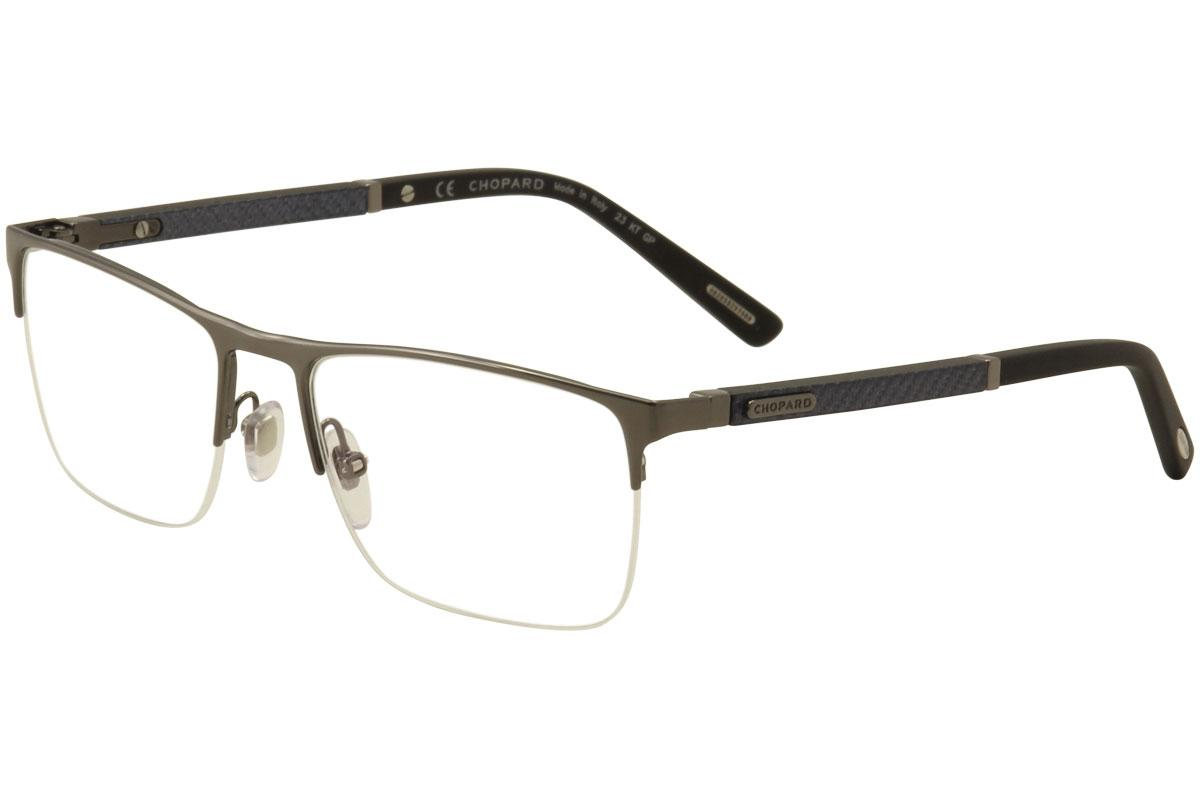 4aefd3100c53 Chopard Men's Eyeglasses VCHB74 VCH/B74 Half Rim Optical Frame