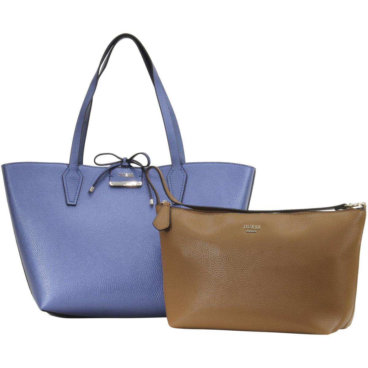 Guess Women's Bobbi Inside-Out Large Reversible Tote Handbag Set
