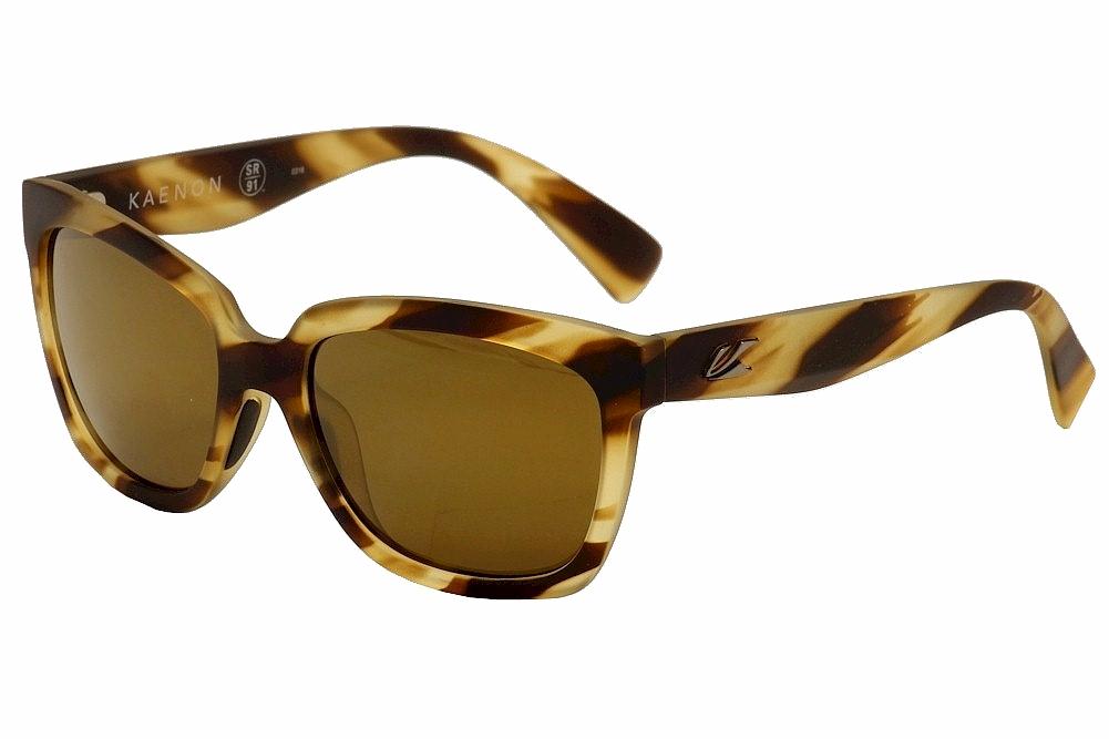 Image of Kaenon Polarized Women's Cali 219 Fashion Sunglasses - Brown - Lens 54 Bridge 19 Temple 139mm