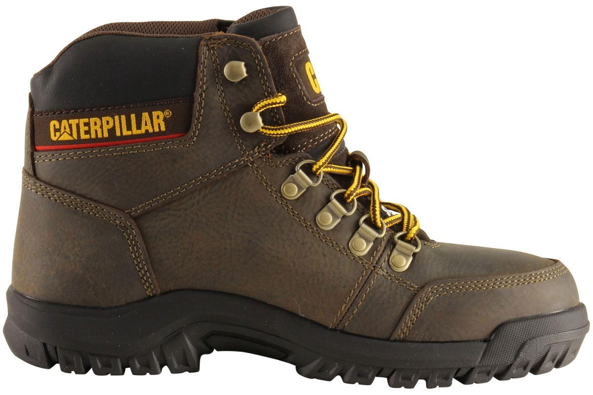b7eca8a8719 Caterpillar Men's Outline ST Slip Resistant Steel Toe Work Boots Shoes