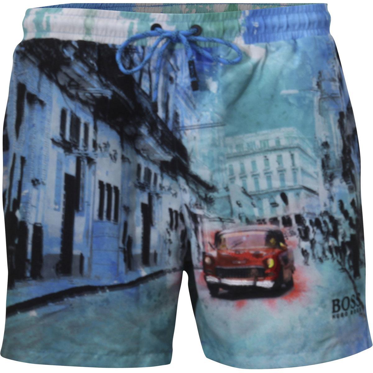 56a9158257000 Hugo Boss Men's Springfish Quick Dry Trunks Shorts Swimwear