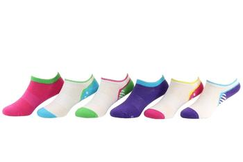 Stride Rite Toddller/Little/Big Girl's 6-Pairs Allie May Athletic Blue Socks UPC: