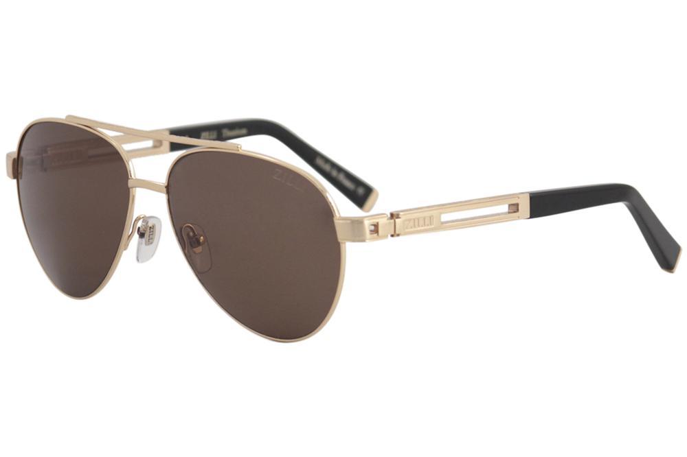 9d1acfd58c Zilli Men s ZI65007 ZI 65007 Fashion Pilot Polarized Sunglasses