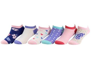 Stride Rite Toddler/Little/Big Girl's 6-Pairs Dainty Dellah Light Pink Socks UPC: