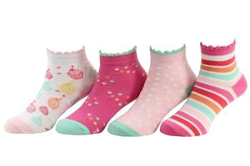 Stride Rite Toddler/Little/Big Girl's 4-Pairs Sprinkles Light Pink Socks UPC: