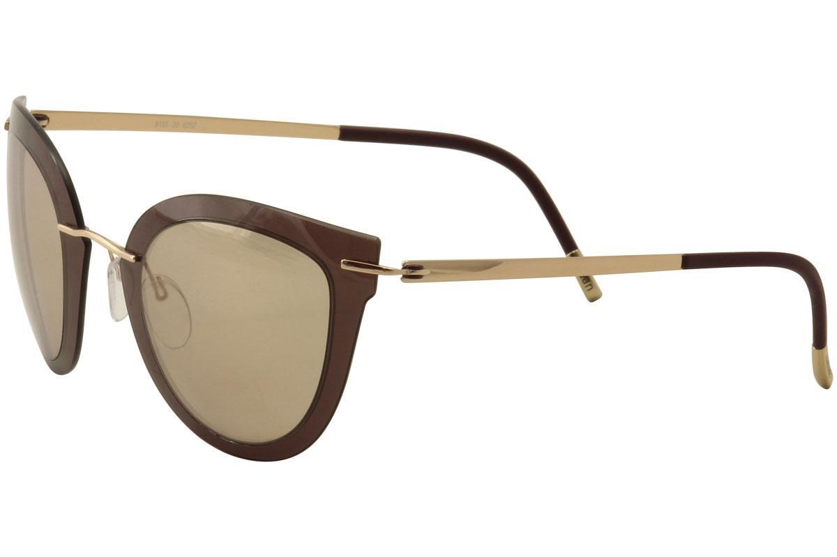 a2a5c970b100 Silhouette Women's Explorer Line Extension 8155 Cat Eye Fashion Sunglasses