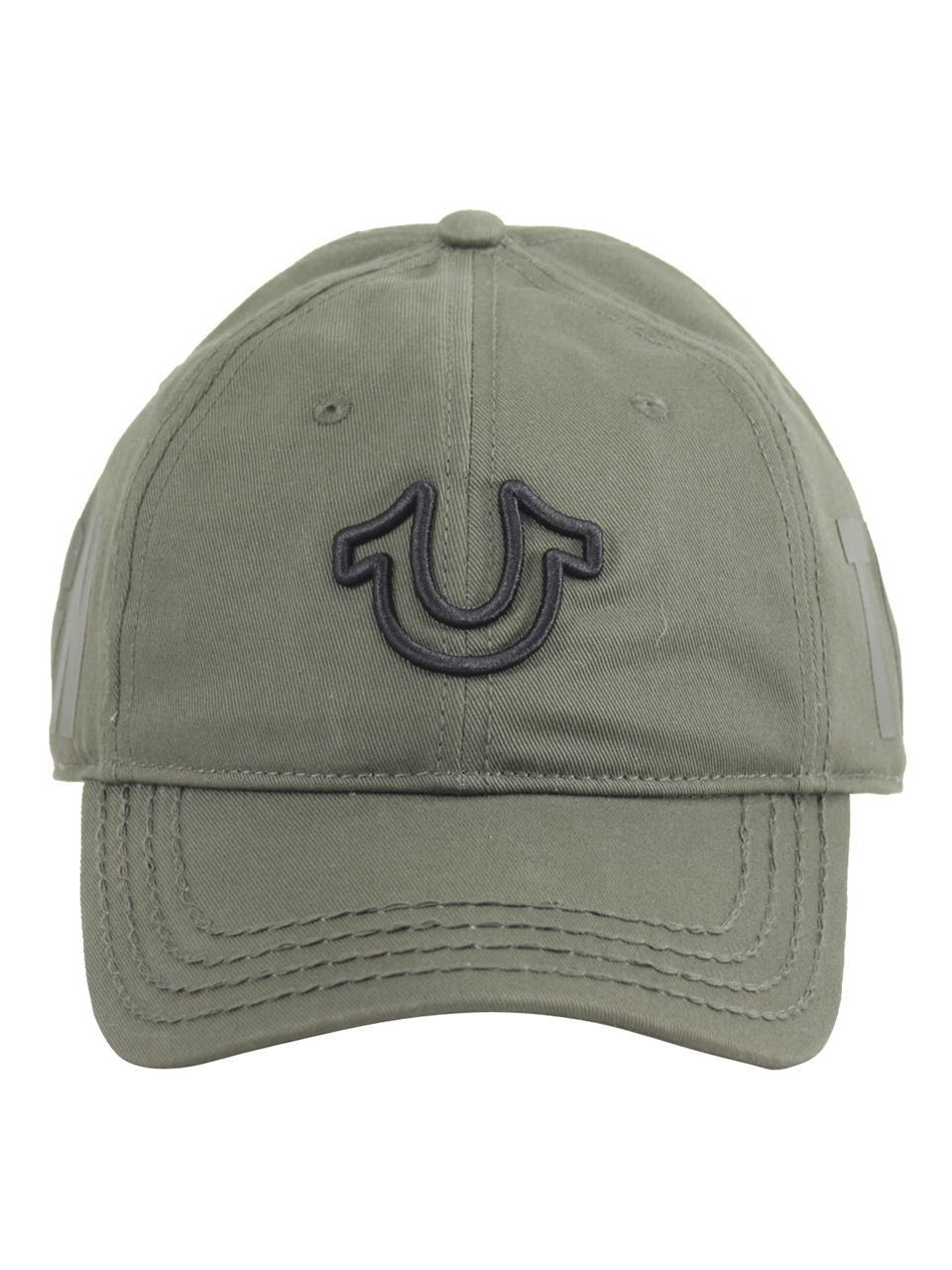 81b945db True Religion Men's 3D Horseshoe Cotton Strapback Baseball Cap Hat